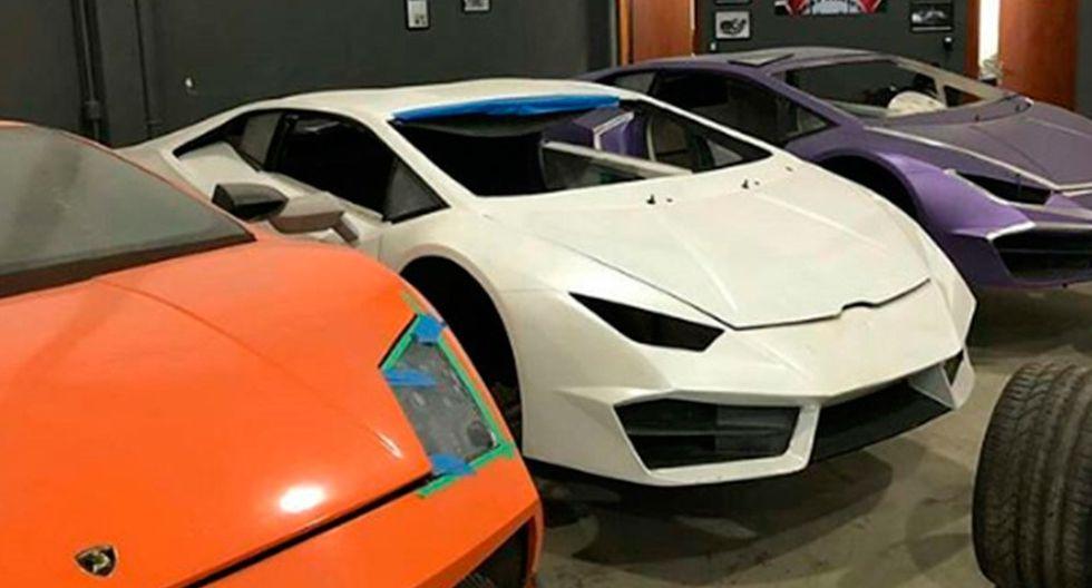 Al momento de la intervención, la Policía encontró un total de 8 réplicas de Ferrari y Lamborghini a punto de ser entregadas. (Fotos: Policía Civil de Santa Catarina).