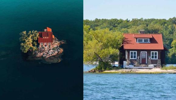 La isla pertenece a la isla Sizelands que compró el terreno con el fin de tener un casa para veranear. | Foto: @riverjeffry