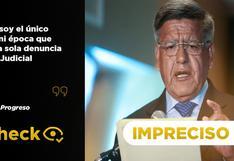 """Es impreciso que César Acuña no tenga """"una sola denuncia en el Poder Judicial"""""""