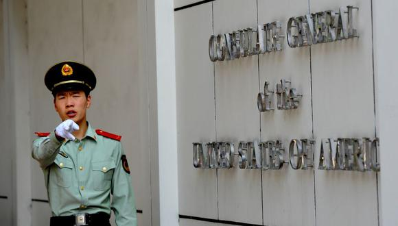 China ordena el cierre del consulado de Estados Unidos en Chengdu. (Foto: GOH Chai Hin / AFP).