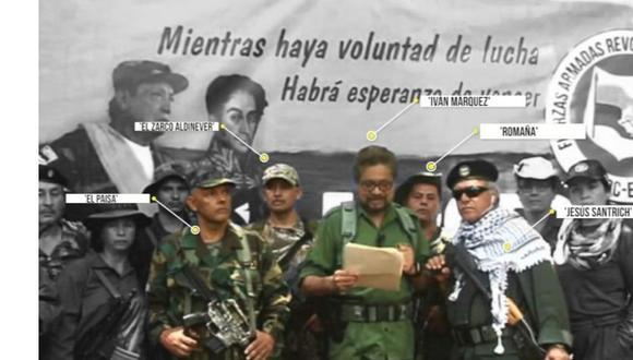 Inteligencia de Colombia dice que video de Iván Márquez se habría grabado en Venezuela. Imagen: El Tiempo de Colombia/ GDA