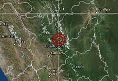 Sismo de magnitud 3,6 se registró esta mañana en Huánuco