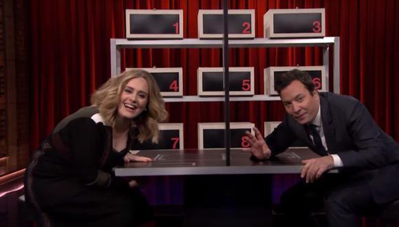 Adele disfrutó jugando con Jimmy Fallon en televisión [VIDEO]