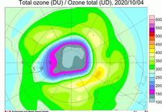 El agujero de la capa de ozono es en 2020 uno de los más grandes de los últimos años