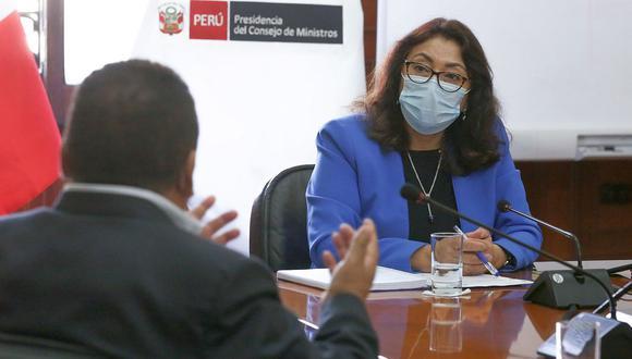 La presidenta del Consejo de Ministros, Violeta Bermúdez, aseguró que Mazzetti también mantiene la confianza del presidente Francisco Sagasti. (Foto: PCM)