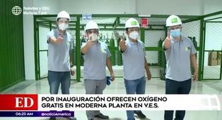 Grupo de emprendedores ofrece oxígeno gratis por inauguración de moderna planta