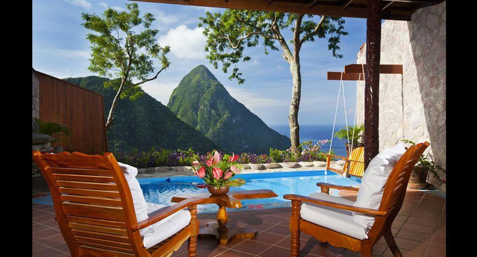 Ladera Resort, Santa Lucía. Precio por noche: US$ 9.000. (Foto: Difusión)