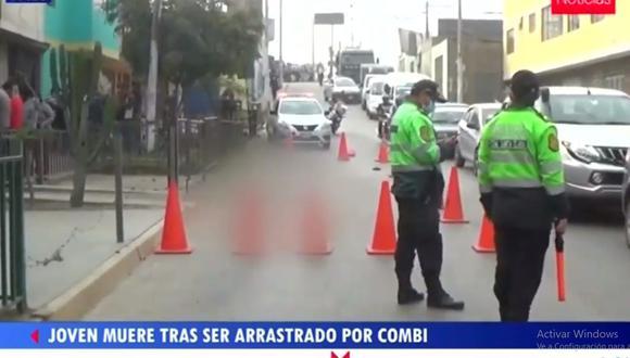 Alexander Salazar se dedicaba a limpiar los parabrisas de vehículos en los semáforos. (TV Perú Noticias)