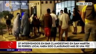 SMP: intervienen a 27 personas en bar clandestino que había sido clausurado más de una vez