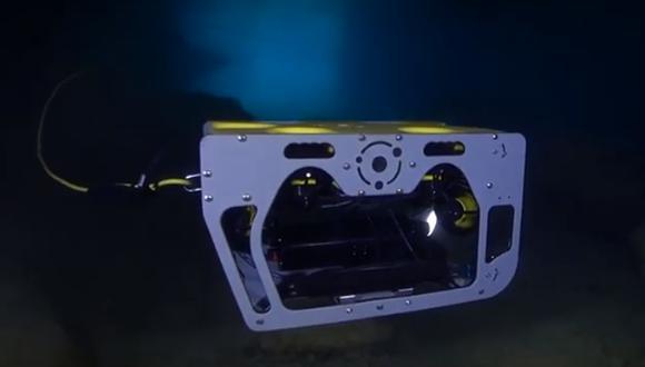 """Se trata de una """"prueba piloto para poder liberar, en el futuro, tiburones de aguas profundas"""", explica el CEO de Nido Robotic, Roy Torgersen. (Captura de pantalla)"""