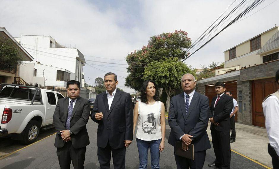 El ex presidente Ollanta Humala y su esposa, Nadine Heredia, son investigados por el presunto delito de lavado de activos por el Caso Odebrecht. (Foto: Hugo Pérez/ El Comercio)