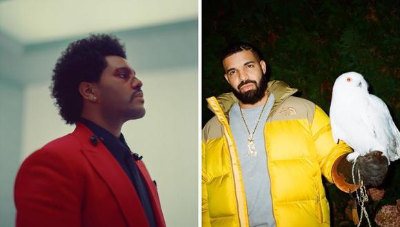 """The Weeknd señaló en redes sociales que su último trabajo discográfico """"Afters Hours"""" no tuvo ninguna nominación al Grammy. (Foto: Instagram / @theweeknd / @champagnepapi)."""