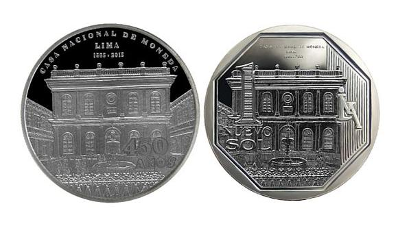 BCR acuñó moneda por los 450 años de la Casa Nacional de Moneda