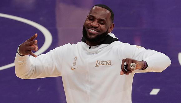 LeBron James buscará su quinto anillo esta temporada en la NBA | Foto: EFE