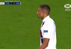 PSG vs. Atalanta: Kylian Mbappé estuvo muy cerca de convertir el 1-1 dentro del área   VIDEO