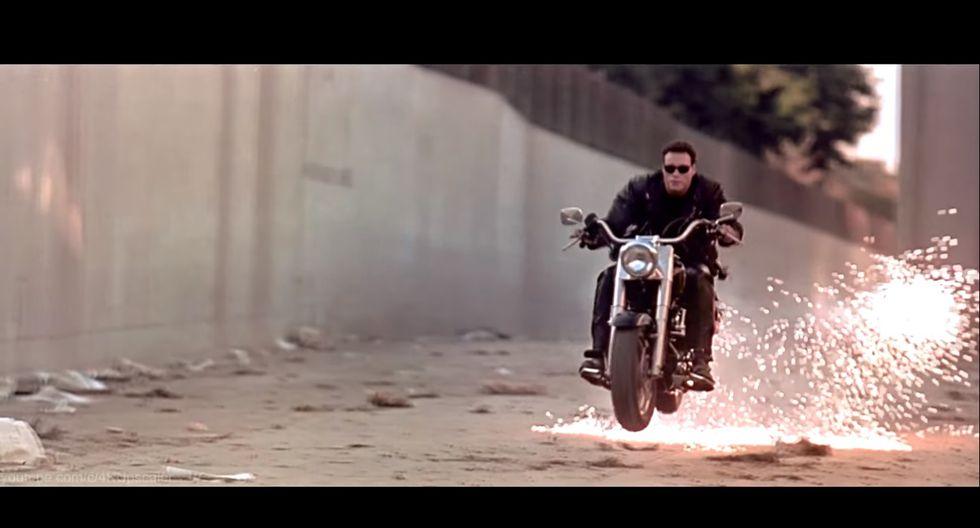 Arnold Schwarzenegger condujo esta motocicleta durante el rodaje de Terminator 2. (Foto: YouTube).