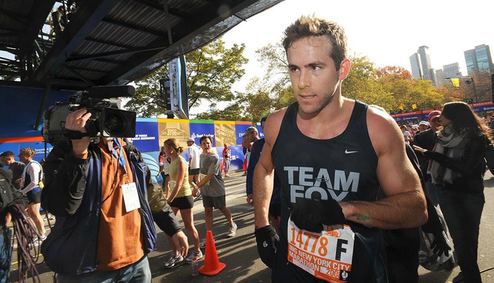 El polifacético actor Ryan Reynolds, corrió la de Nueva York en 2008 para llamar la atención sobre el mal del Parkinson.