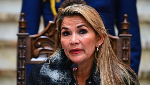 Jeanine Añez, presidenta interina de Bolivia. (AFP / RONALDO SCHEMIDT).