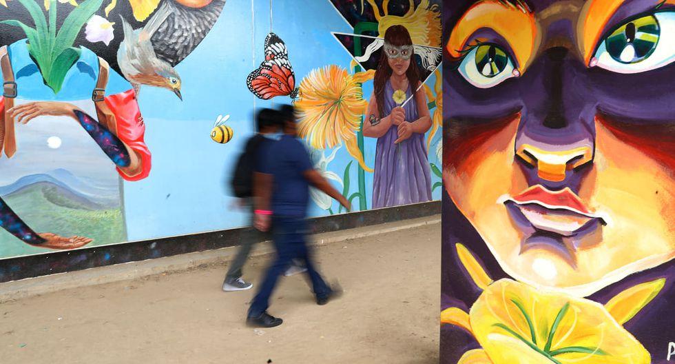La Línea 1 del Metro de Lima informó que se han pintado más murales en Villa El Salvador, Surco y La Victoria. (Foto: Alessandro Currarino)