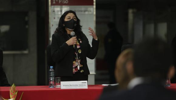 Violeta Bermúdez dijo que se podrían precisar causales para suspender pensiones para expresidentes. (Foto: Britanie Arroyo/ GEC)