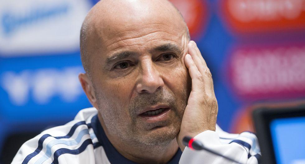 Jorge Sampaoli asumió el cargo de DT en junio del 2017. Tras el Mundial 2018 en el que la 'Albiceleste' fue eliminada por Francia, resuelve su contrato con la AFA. (Foto: AFP)
