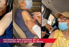 Brasil: denuncian que supuestas 'vacunas de aire' fueron aplicadas a adultos mayores   VIDEO