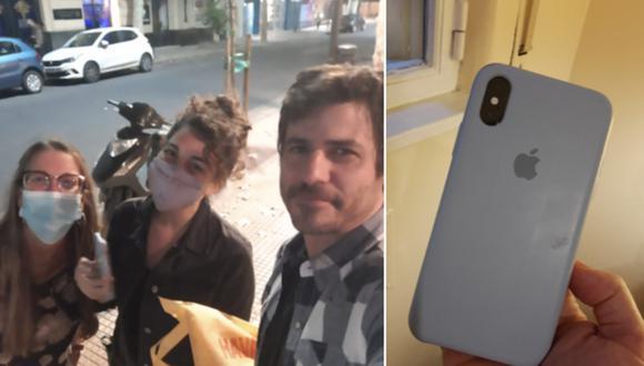 Un hombre halló un celular en un taxi, decidió buscar a la persona que lo perdió y la encontró ese mismo día. (Foto: @RafaOtegui / Twitter)