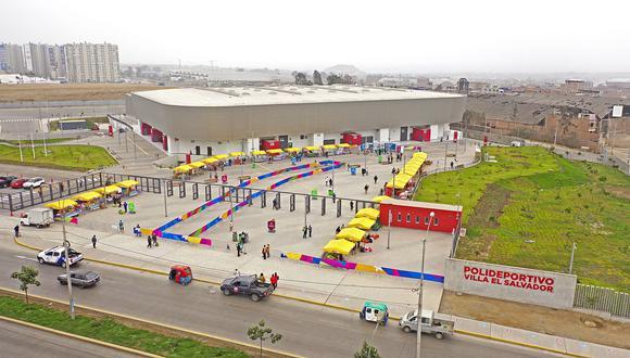 En el polideportivo Villa El Salvador se instalarán 47 mesas de sufragio para las Elecciones 2021.(Foto: Difusión)