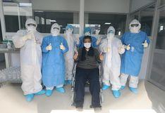 Enfermero del Almenara y tres pacientes más fueron dados de alta tras vencer el COVID-19 | FOTOS