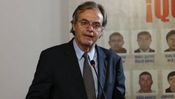Carlos Basombrío y el Ministerio del Interior presentaron un informe sobre el escuadrón de la muerte el 22 de agosto. (Archivo El Comercio)