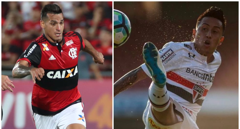 Trauco y Cueva: peruanos cometieron errores y perjudicaron a sus equipos. (Foto: AFP/Flamengo)