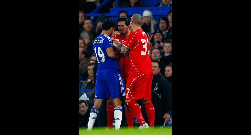 Diego Costa desató la furia de los jugadores del Liverpool - 3