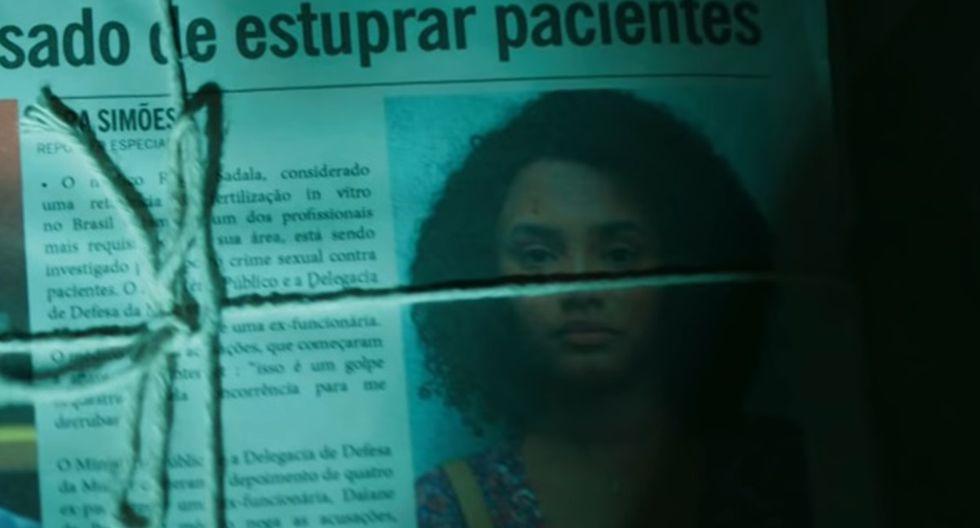 """Escena de """"Assédio"""", la serie brasileña que narra el caso del médico que abusó sexualmente de más de 50 pacientes."""