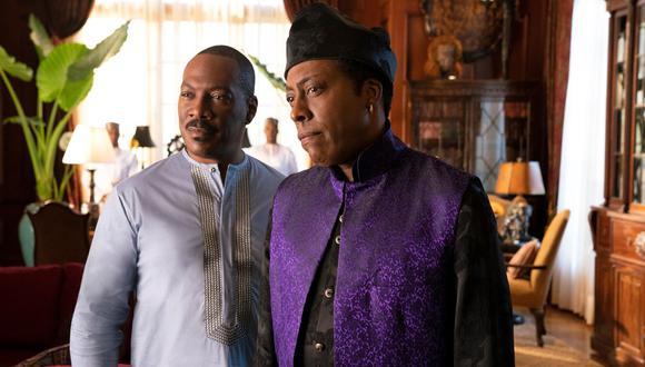 """Arsenio Hall y Eddie Murphy en """"Un príncipe en Nueva York 2"""". (Foto: Amazon Prime Video)"""