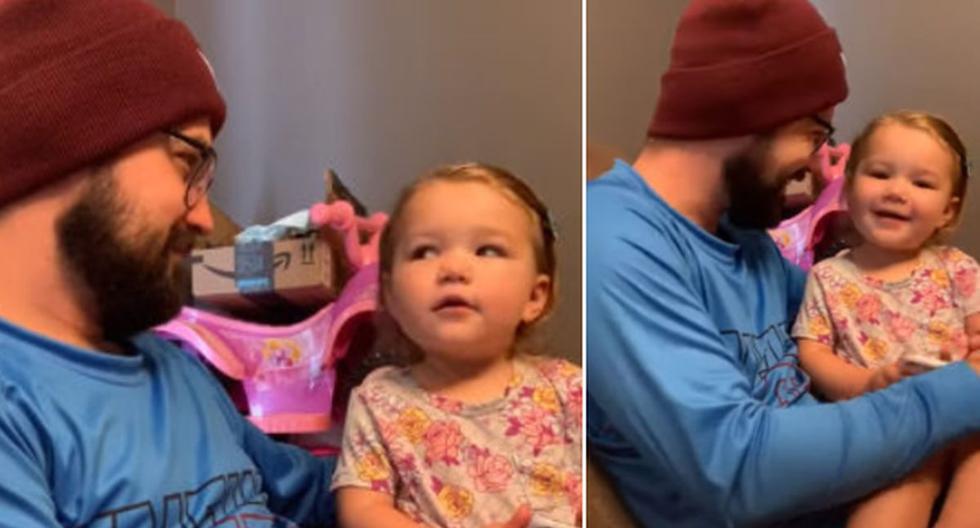 La grabación de un padre con su hija dio la vuelta al mundo. (YouTube: ViralHog)