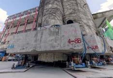 China emplea cerca de 200 patas robóticas para mover un edificio histórico de 7.600 toneladas
