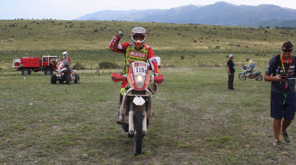 Lalo Burga en su segundo Dakar. (Foto: Christian Cruz Valdivia)