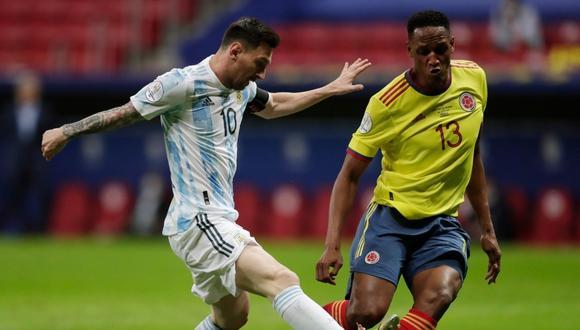 Messi y Mina jugaron juntos en el Barcelona de España. (Foto: Reuters)