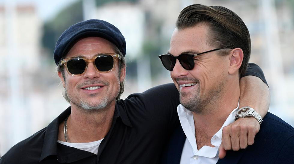 "Brad Pitt y Leonardo DiCaprio en la presentación de ""Once Upon a Time in Hollywood"" en Cannes 2019. (Foto: Agencias)"