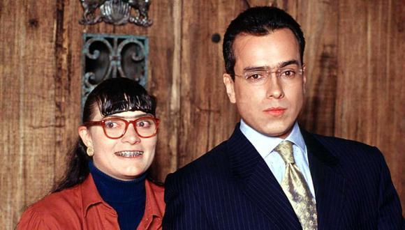 """""""Yo soy Betty, la fea"""" fue una telenovela que se convirtió en un fenómeno internacional. En la imagen sus actores principales Ana María Orozco y Jorge Enrique Abello. (Foto: El Tiempo de Colombia/GDA)"""