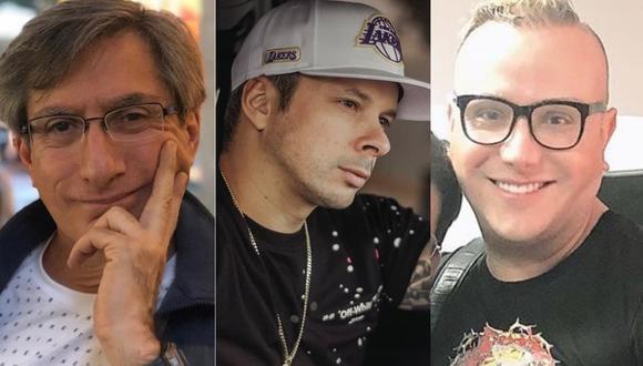 Federico Salazar, Mario Hart y Carlos Cacho (Foto: Instagram)