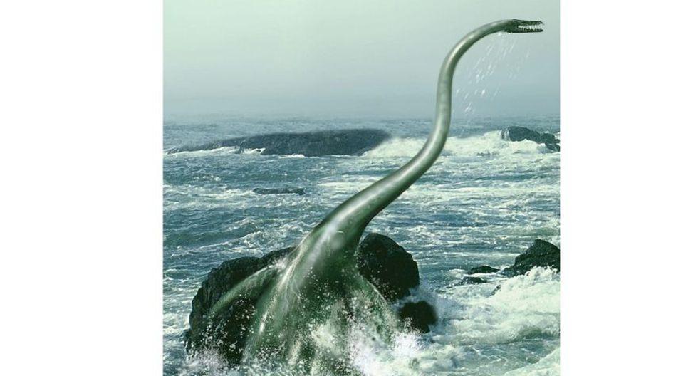 Ilustración de un elasmosaurio nadando en aguas turbulentas.(Foto: STOCKTREK IMAGES, INC. / ALAMY/NAT GEO)