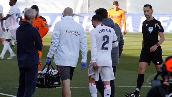 Dani Carvajal sufrió una nueva lesión en el Real Madrid vs. Valencia | Foto: EFE