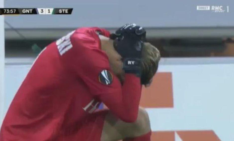 Thomas Kaminski permitió el segundo gol de Saint-Etienne en la Europa League. (Captura: YouTube)