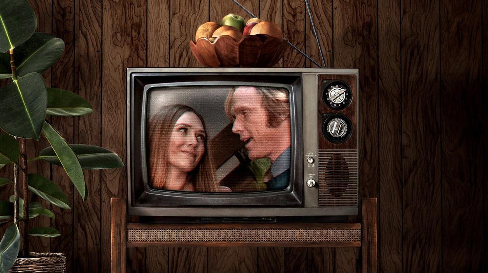 """Creada por Jac Schaeffer, """"WandaVision"""" sigue la historia de la Bruja Escarlata (Elizabeth Olsen) y el robot Vision (Paul Bettany) tras lo ocurrido en """"Avengers: Enagame"""". Foto: Disney+."""