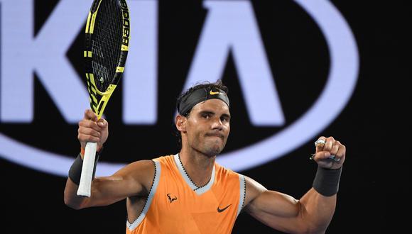 Rafael Nadal venció 3-0 a Tomas Berdych y clasificó a los cuartos de final del Australian Open. (Foto:AFP).