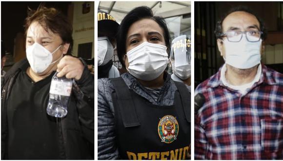 Poder Judicial evaluará el 23 de octubre pedido fiscal de prisión preventiva contra Mirian Morales, Oscar Vásquez y Richard Cisneros (Fotos: El Comercio)