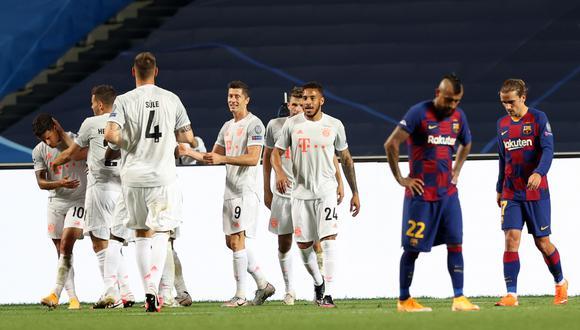El Bayern le propinó la peor goleada en la historia al Barcelona en Champions. (Foto: EFE)