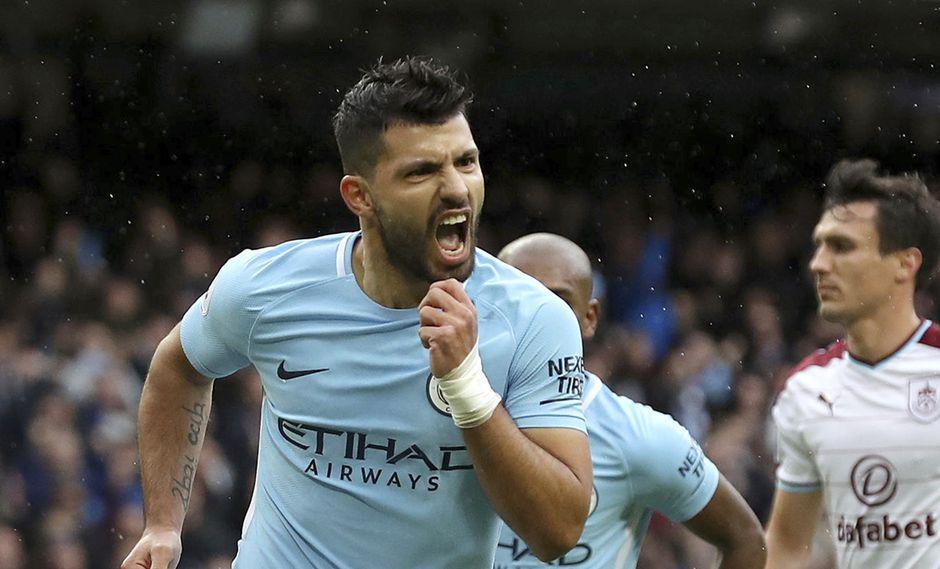 Sergio Agüero igualó al otrora artillero Eric Brook como máximo artillero del Manchester City. El argentino alcanzó las 177 dianas de su antecesor. (Foto: AFP)