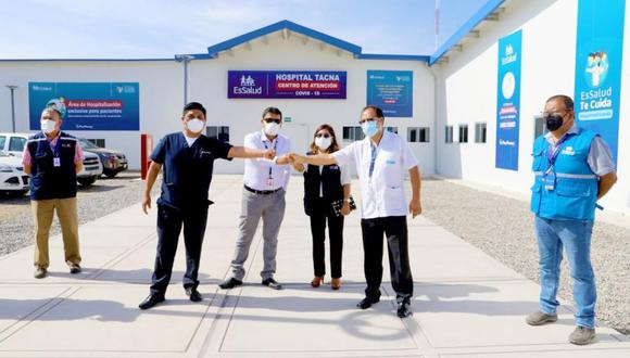 Iniciaron proceso de recepción de infraestructura y bienes del nuevo hospital COVID-19, anexo al hospital Hipólito Unanue de Tacna. (Foto: Gobierno Regional Tacna)